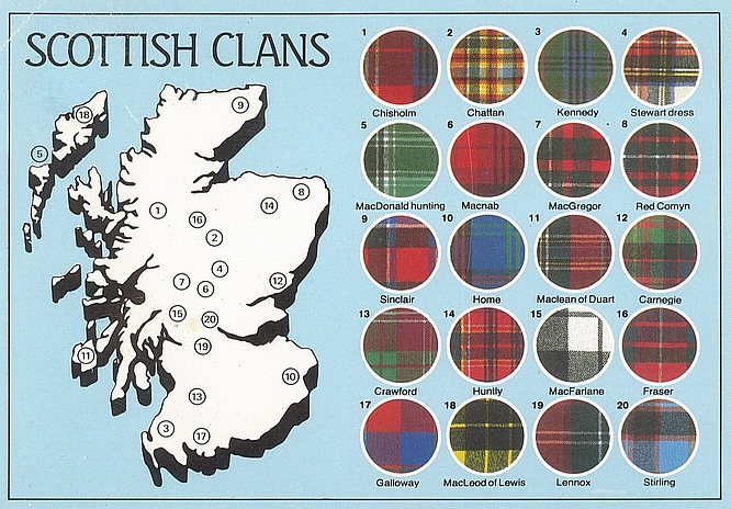 Welt der Mode - scottish clans